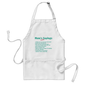 Mom's favorite sayings on gifts for her. adult apron