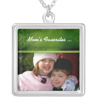 Mom's favorites ... photo template square pendant necklace