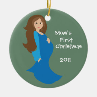 Mom's First Christmas Ornament - Blue Personalized