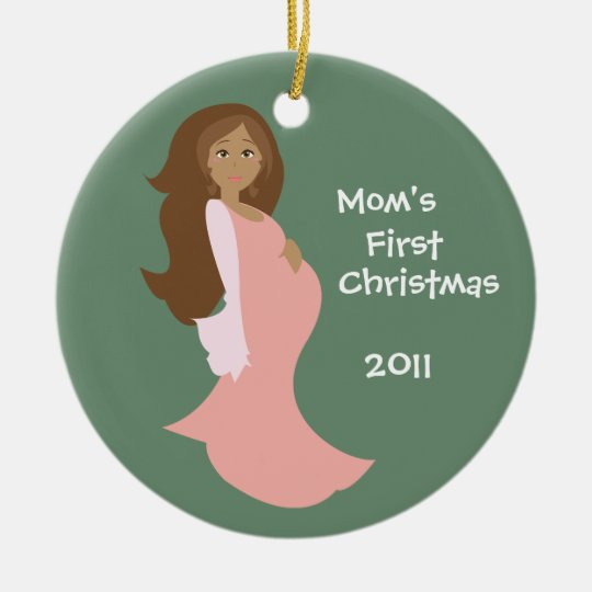 Mom's First Christmas Ornament - Personalized | Zazzle.com