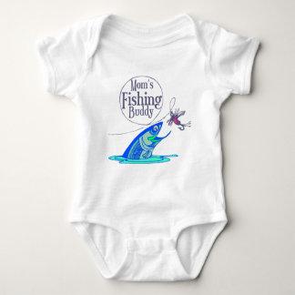 Mom's Fishing Buddy Baby Bodysuit