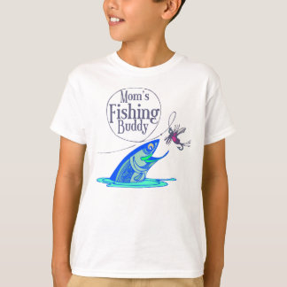 Mom's Fishing Buddy Kids T-shirts