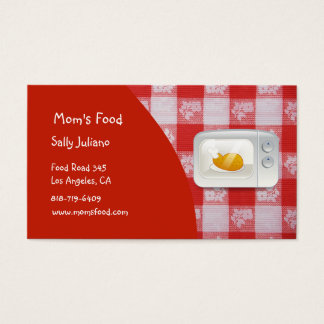 Mom's Food Business Cards