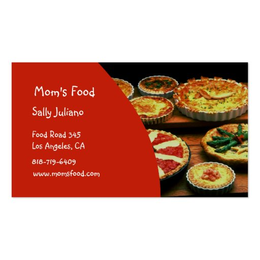 Mom S Food Business Cards Zazzle