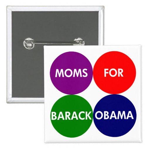 Moms For Barack Obama Circles of Color Button