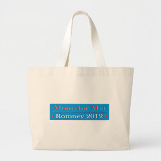 MOMS FOR MITT ROMNEY LARGE TOTE BAG