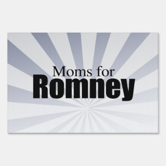 MOMS FOR ROMNEY.png Lawn Sign