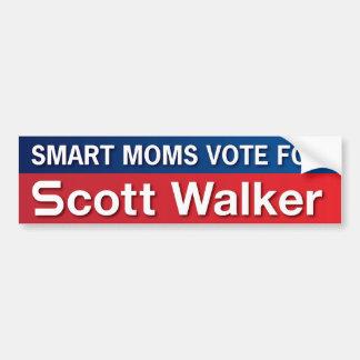 Moms For Scott Walker Car Bumper Sticker