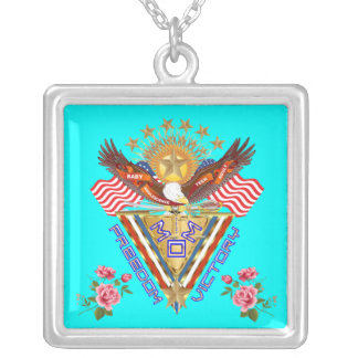 Moms Freedom Award Important View About Design Square Pendant Necklace