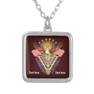 Moms Freedom Award View Artist Comments Square Pendant Necklace