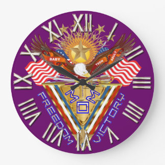 Moms Freedom Award View Info From The Designer Large Clock