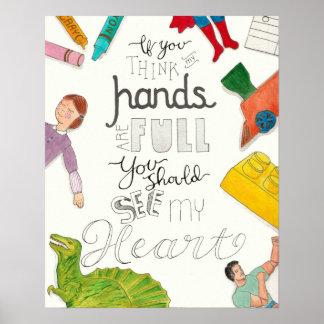 Mom's Hands full maternity 16X20 poster