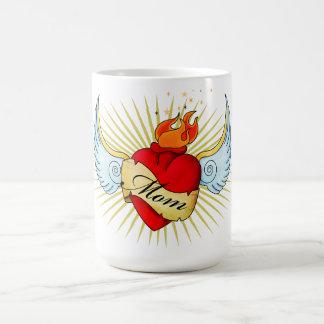 Mom's Heart Classic White Coffee Mug