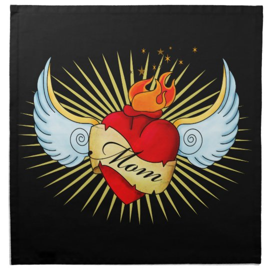 Mom's Heart Cloth Napkin