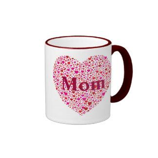 Moms Heart Ringer Mug