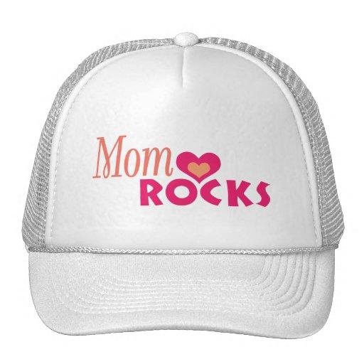 Moms Heart Rocks Trucker Hat