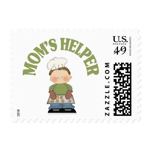 Mom's Helper Postage Stamp