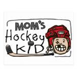 Mom's Hockey Kid Postcard