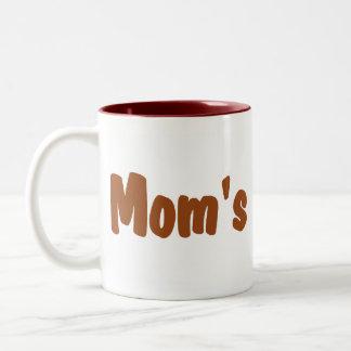 Mom's hot tea mugs: Hot tea with milk & sweetener Two-Tone Coffee Mug