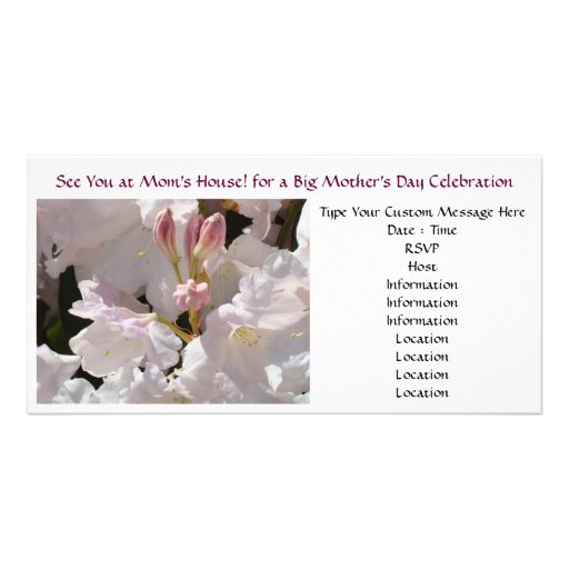 Mom's House Invitations Mother's Day Celebration Photo Card