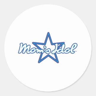 Moms Idol Classic Round Sticker