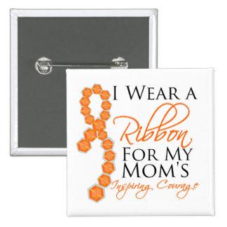 Mom's Inspiring Courage - Leukemia Pinback Button