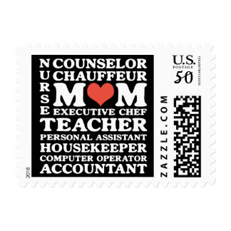 Mom's Jobs Mother's Day Custom Postage Stamps