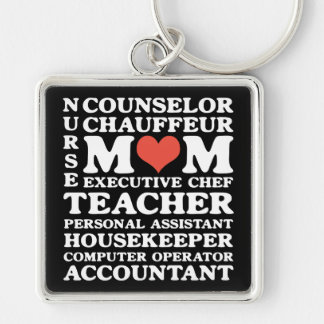 Mom's Jobs Premium square Keychain