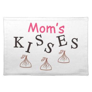 Mom's Kisses Cloth Place Mat