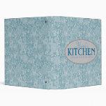 Mom's Kitchen 1 Inch Blue Floral Recipe Binder