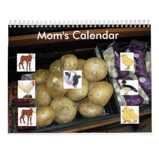 Mom's Kitchen Calendar