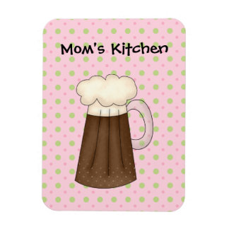 Moms Kitchen Ice Cream Float (Add Your Own Text) Rectangular Photo Magnet