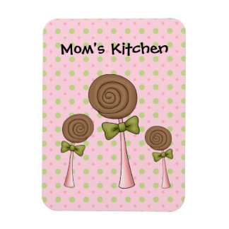 Moms Kitchen LolliPops (Add Your Own Text) Magnet