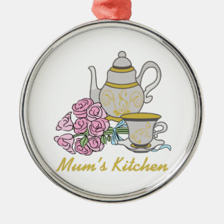 Mom's Kitchen Metal Ornament