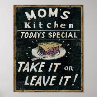 Mom's Kitchen Poster