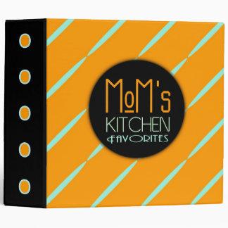 Mom's Kitchen Recipe Favorites Modern Retro 3 Ring Binder