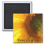 Mom's Kitchen Sunflower Magnet