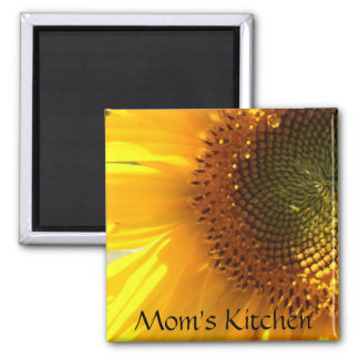 Mom's Kitchen Sunflower Magnet
