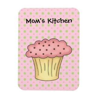Moms Kitchen Yummy Cup Cake (Add Your Own Text) Magnet