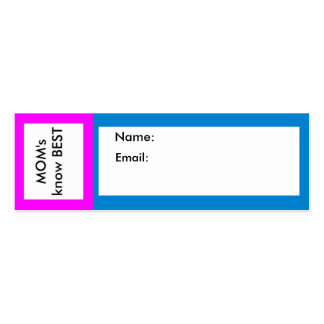 MOM's know Best jGibney The MUSEUM Double-Sided Mini Business Cards (Pack Of 20)