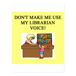mom's librarian voice postcards