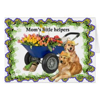 Mom's little helpers card