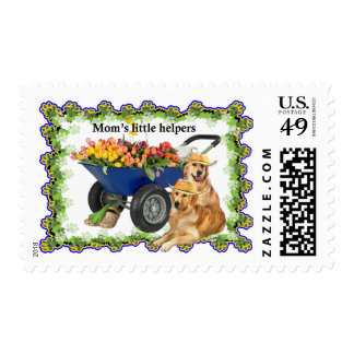 Mom's little helpers postage stamps