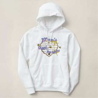 Mom's Little Honeys Applique Embroidered Hoodie