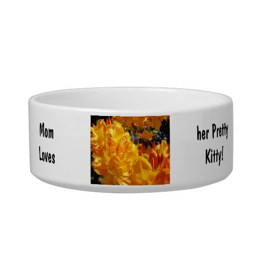 Mom's loves her Pretty Kitty! Cat food bowl Floral