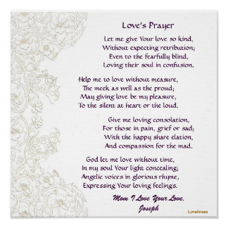 Mom's Love's Prayer Poster-Customize Poster