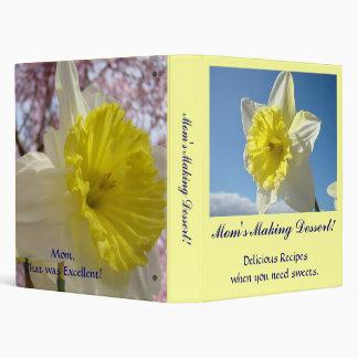 Mom's Making Dessert! Recipe Album gift Mothers 3 Ring Binder