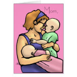 Moms, Mom, Greeting Card