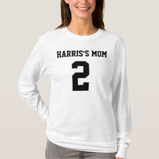 MOMS NUMBER Ladies AA Hoody Long Sleeve (Fitted)