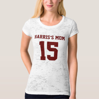 MOMS NUMBER Ladies Burnout T-Shirt (Fitted)